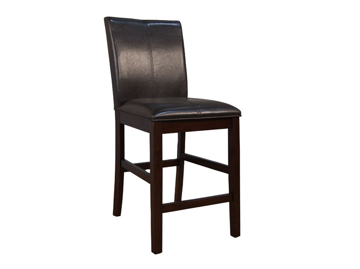 Parsons Brown Curved Back Stool