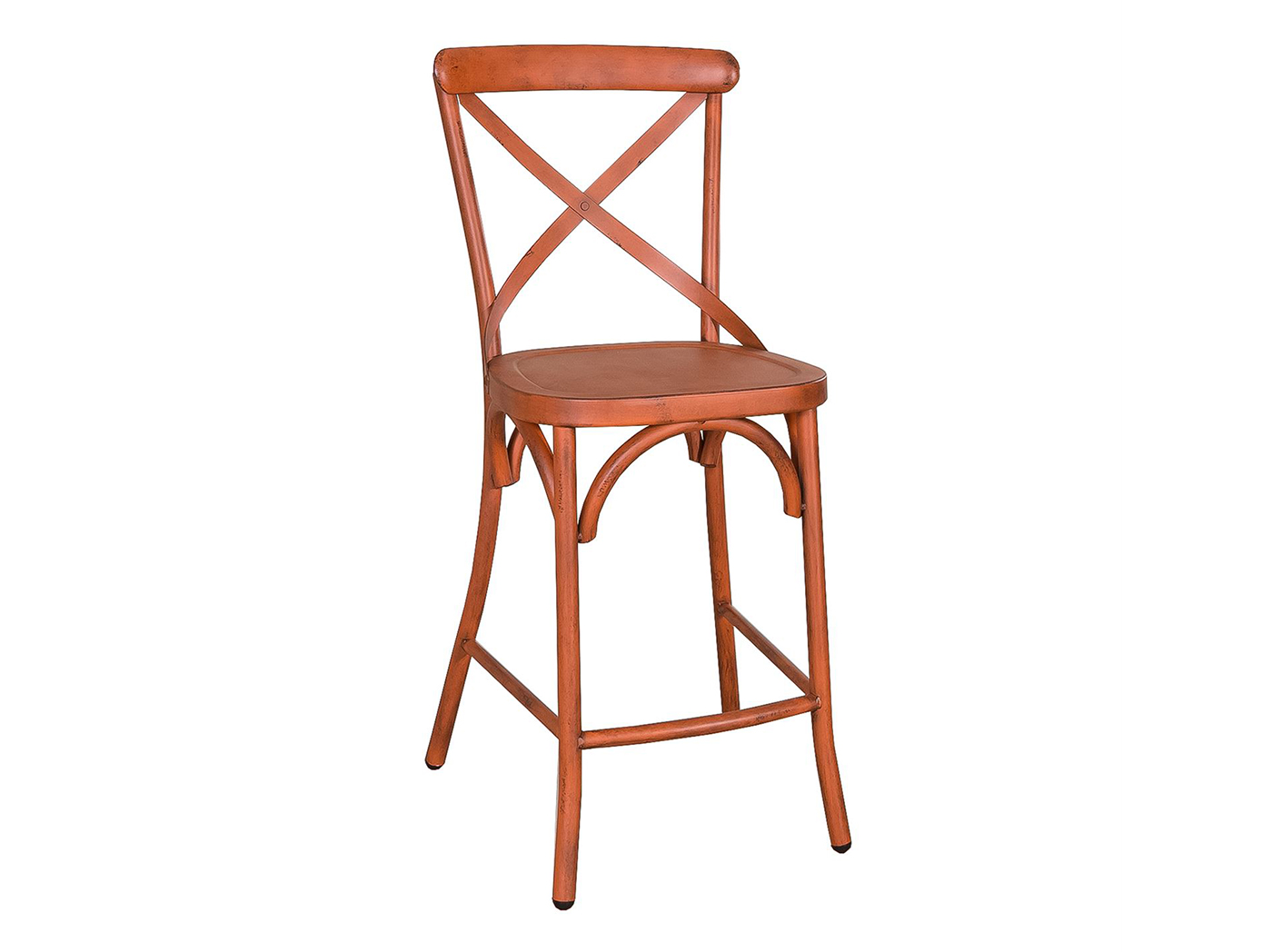 Orange X-Back Counter Stool