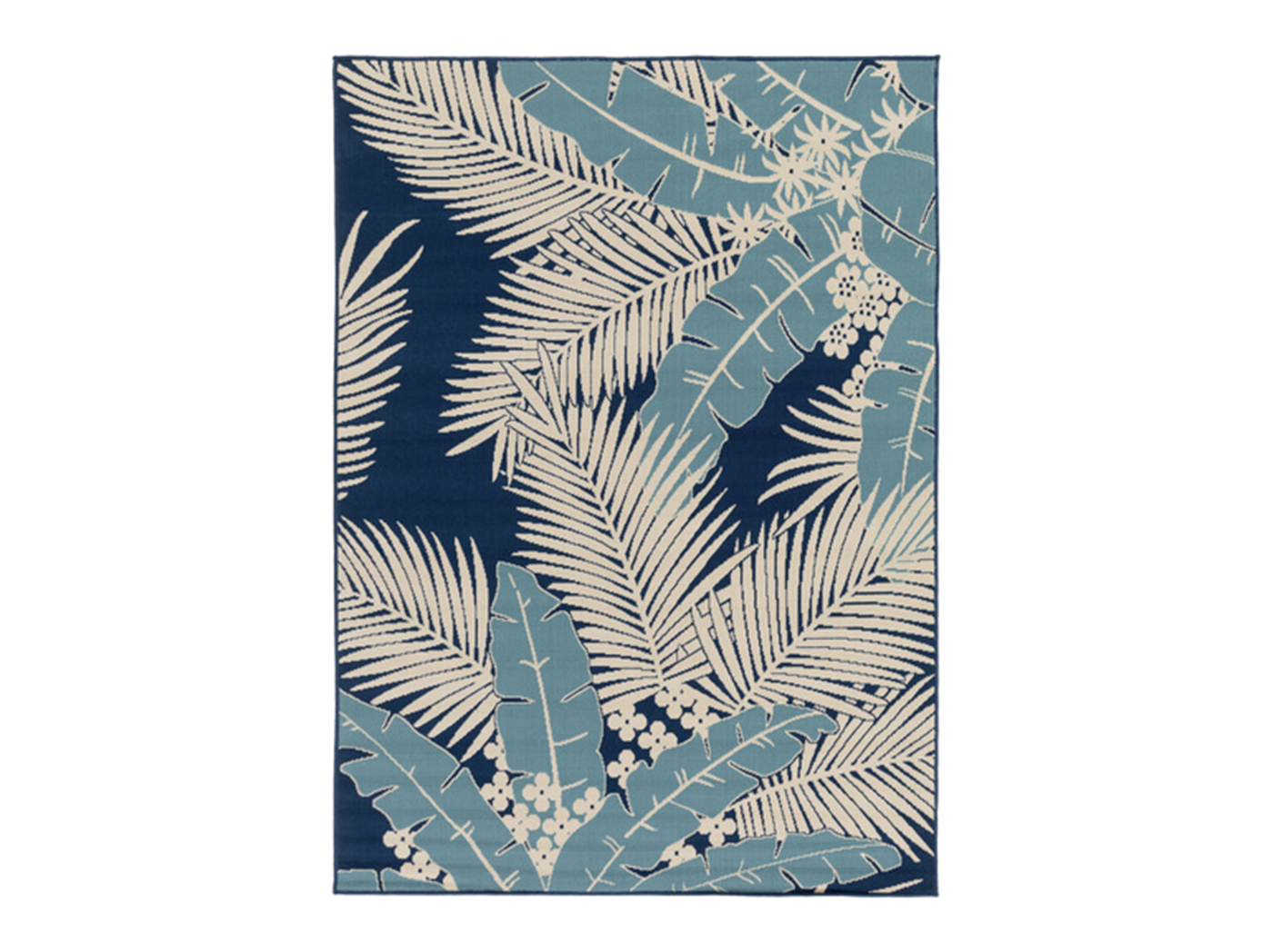 "Kaleidoscope Blue 7'10""X 10'2"" Patio Area Rug"