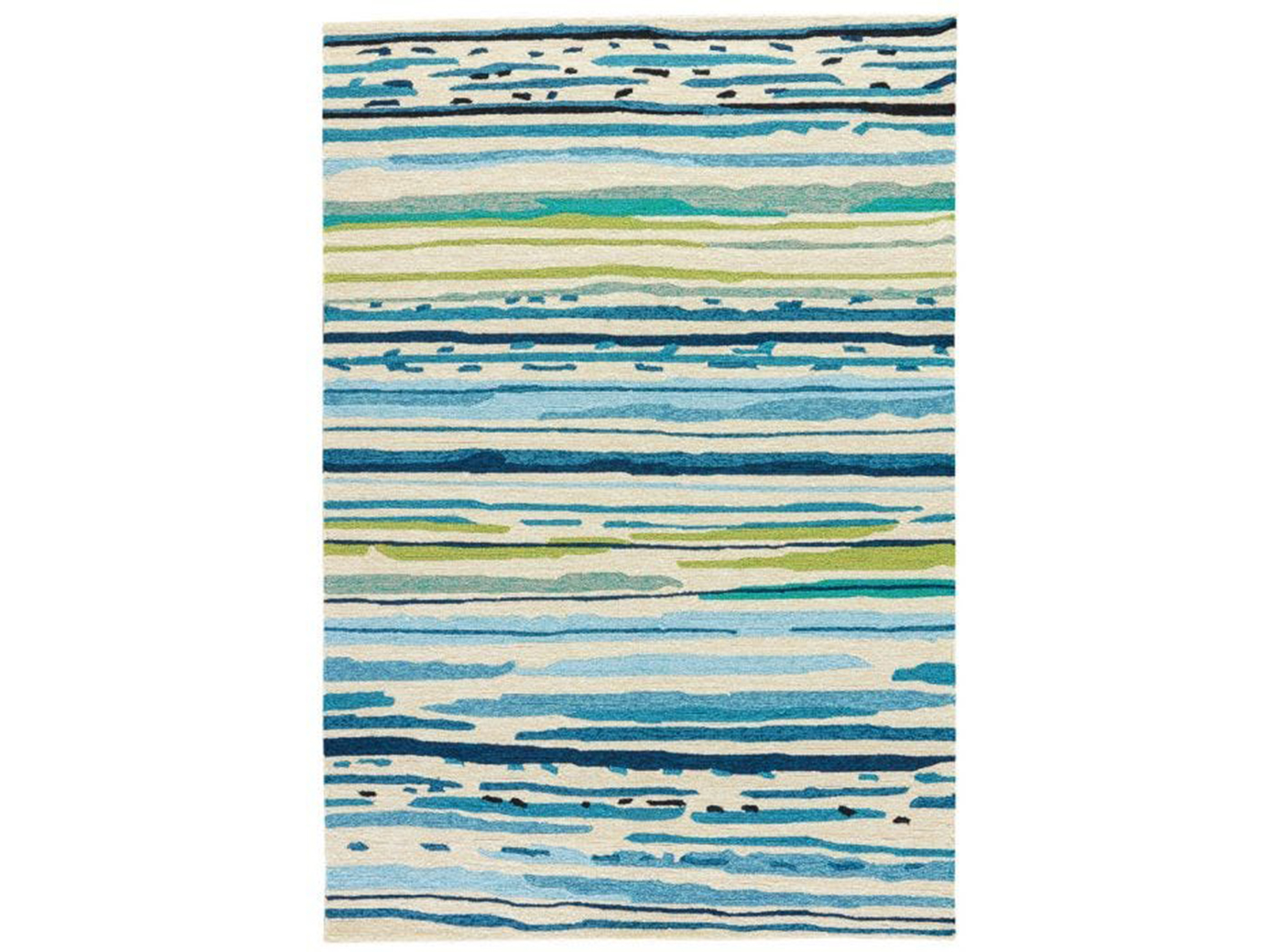 "Colours Sketchy Lines 7'6""X 9'6"" Patio Area Rug"