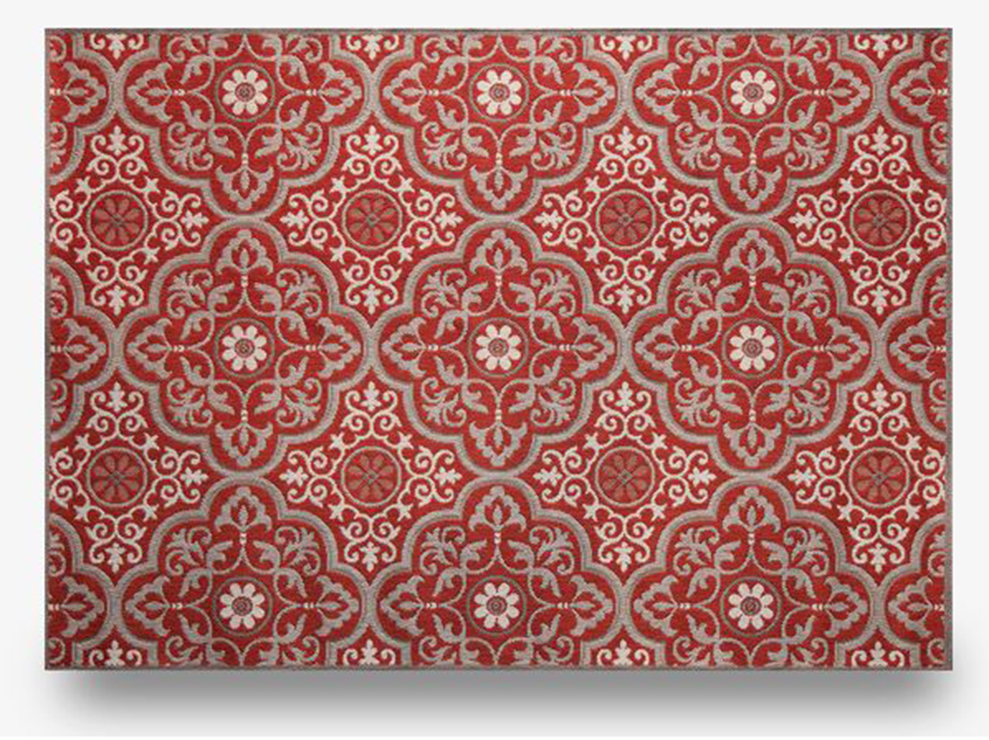 "Mosaic Ruby 7'10""X 10' Patio Area Rug"