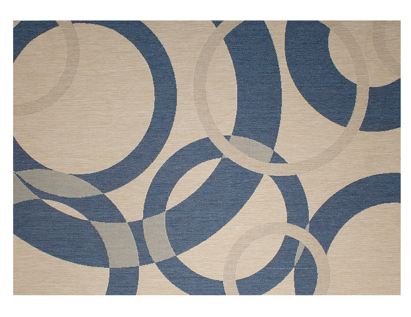 Champagne Blue Patio Area Rug