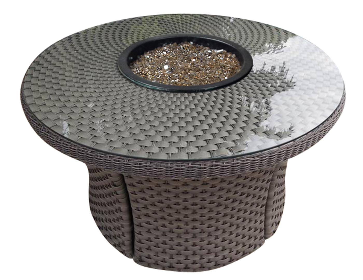 Cabo Round Firepit Table