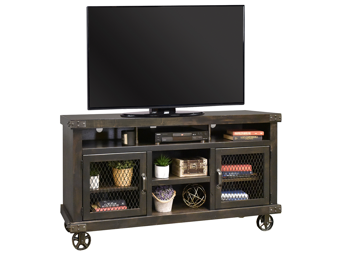 "Industrial Ghost Black 65"" Entertainment Console"