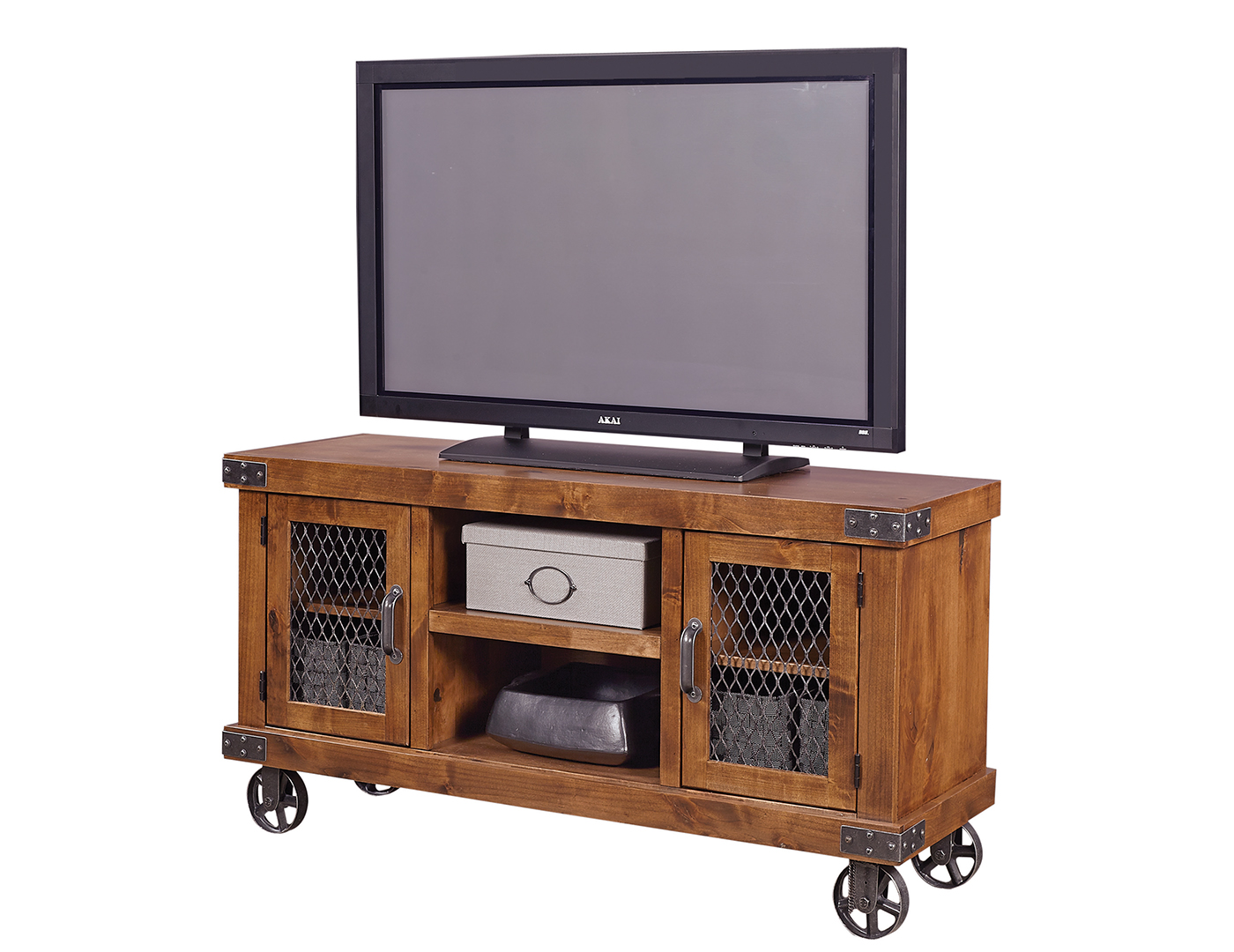 "Industrial Fruitwood 55"" Entertainment Console"
