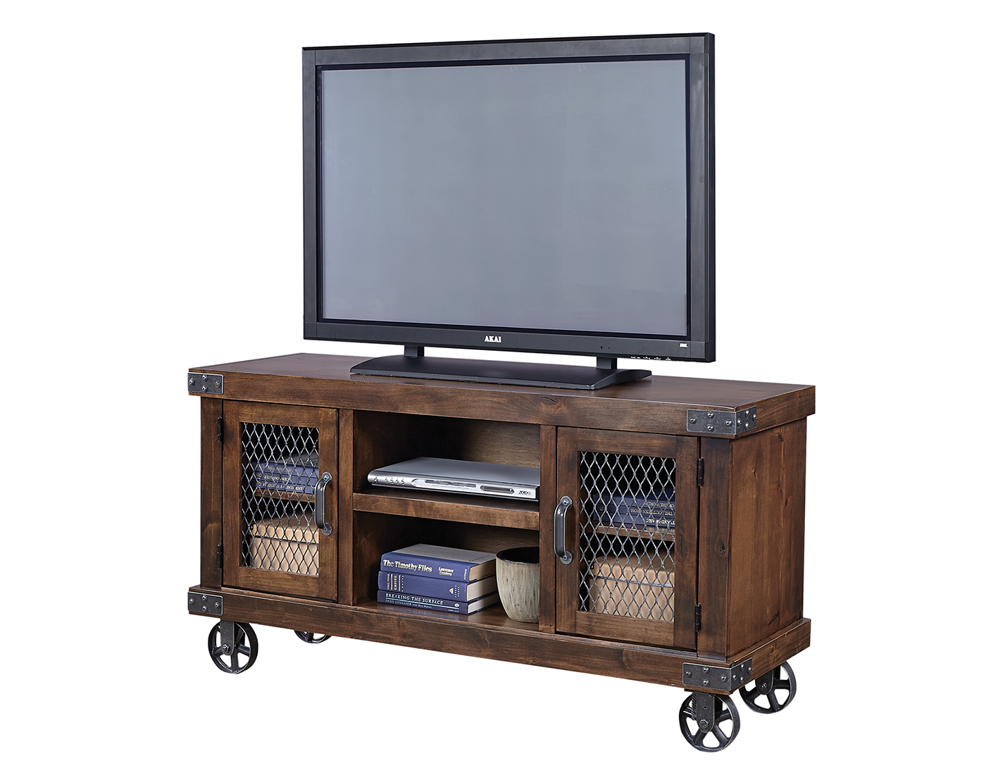 "Industrial Tobacco 55"" Entertainment Console"