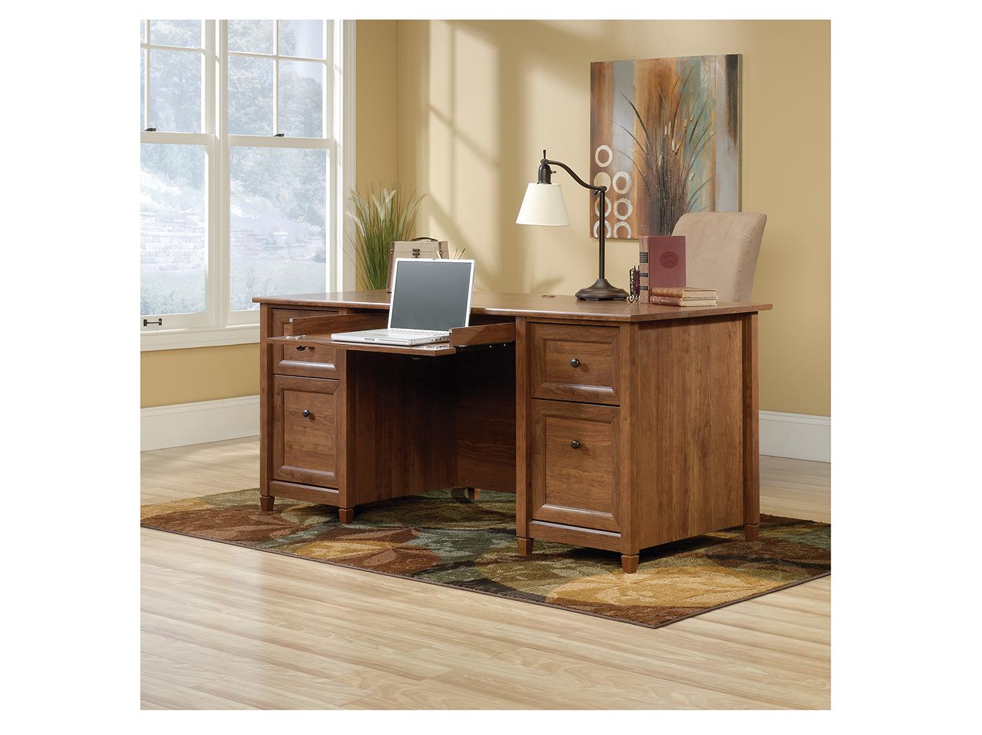 Edge Water Auburn Cherry Executive Desk