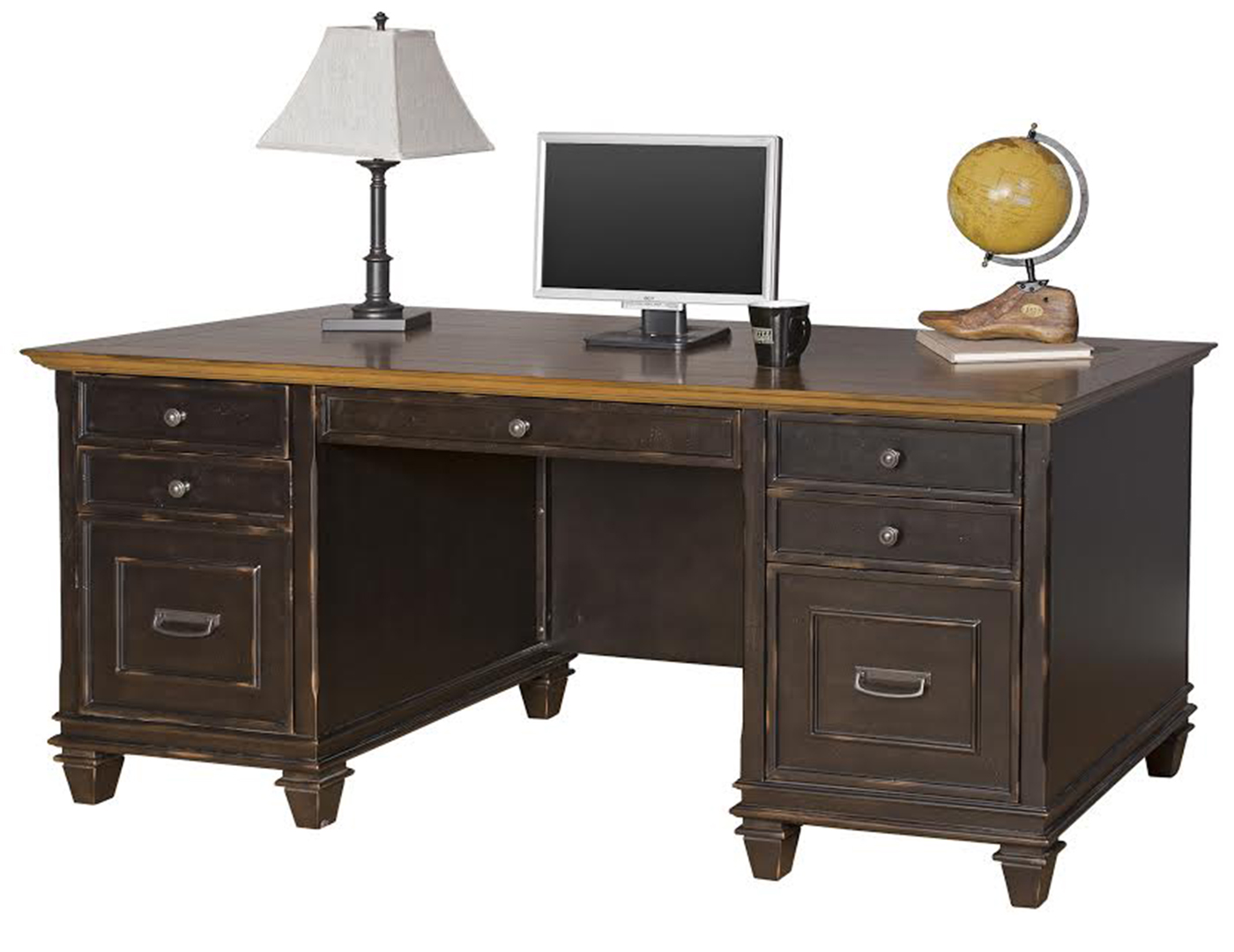 double office desk. hartford double pedestal desk office