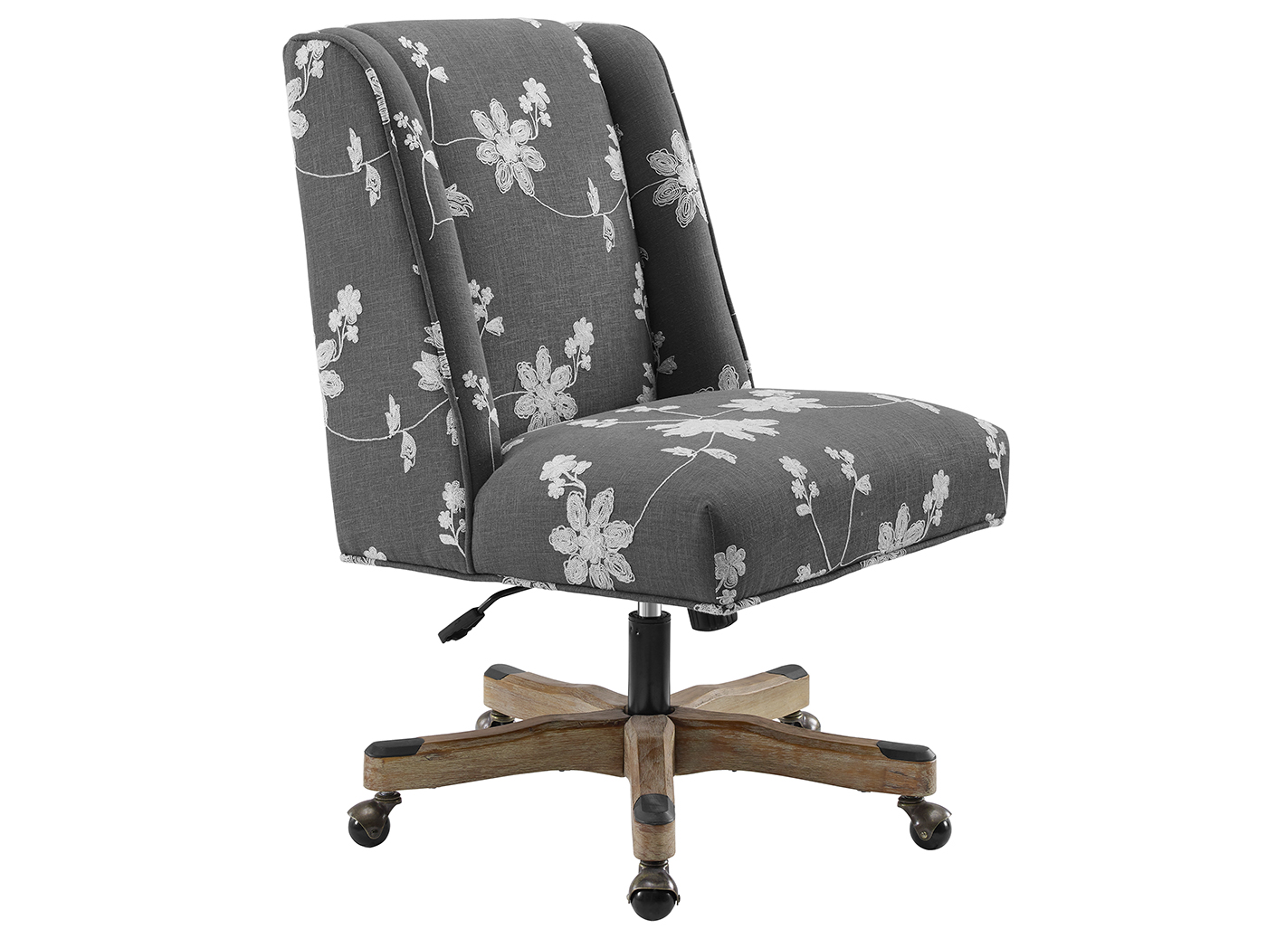 Draper Grey Embroidered Office Chair