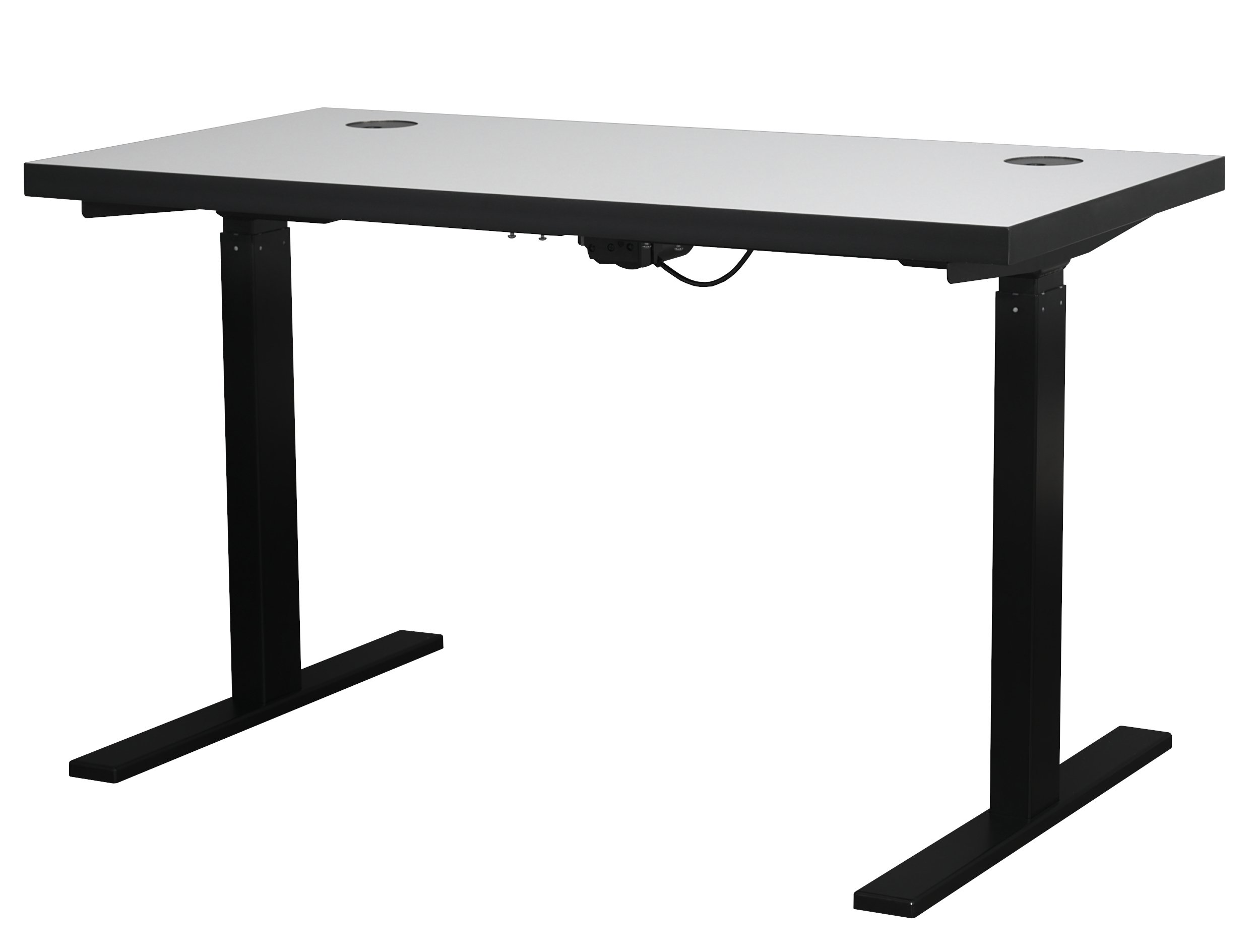 Streamline White Electric Sit and Stand Desk