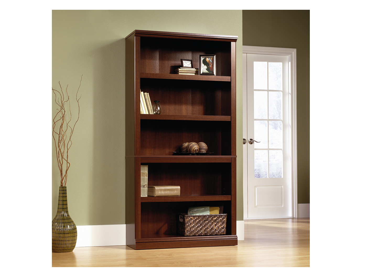 Sauder Select Cherry 5 Shelf Bookcase