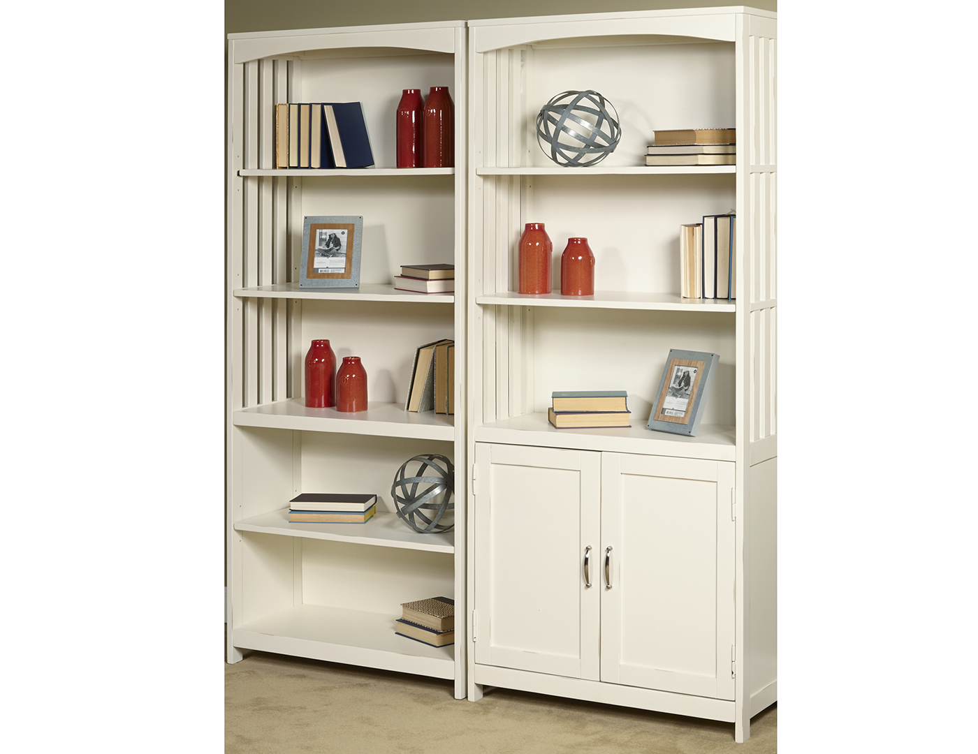 Hampton Bay Bookcase with Doors
