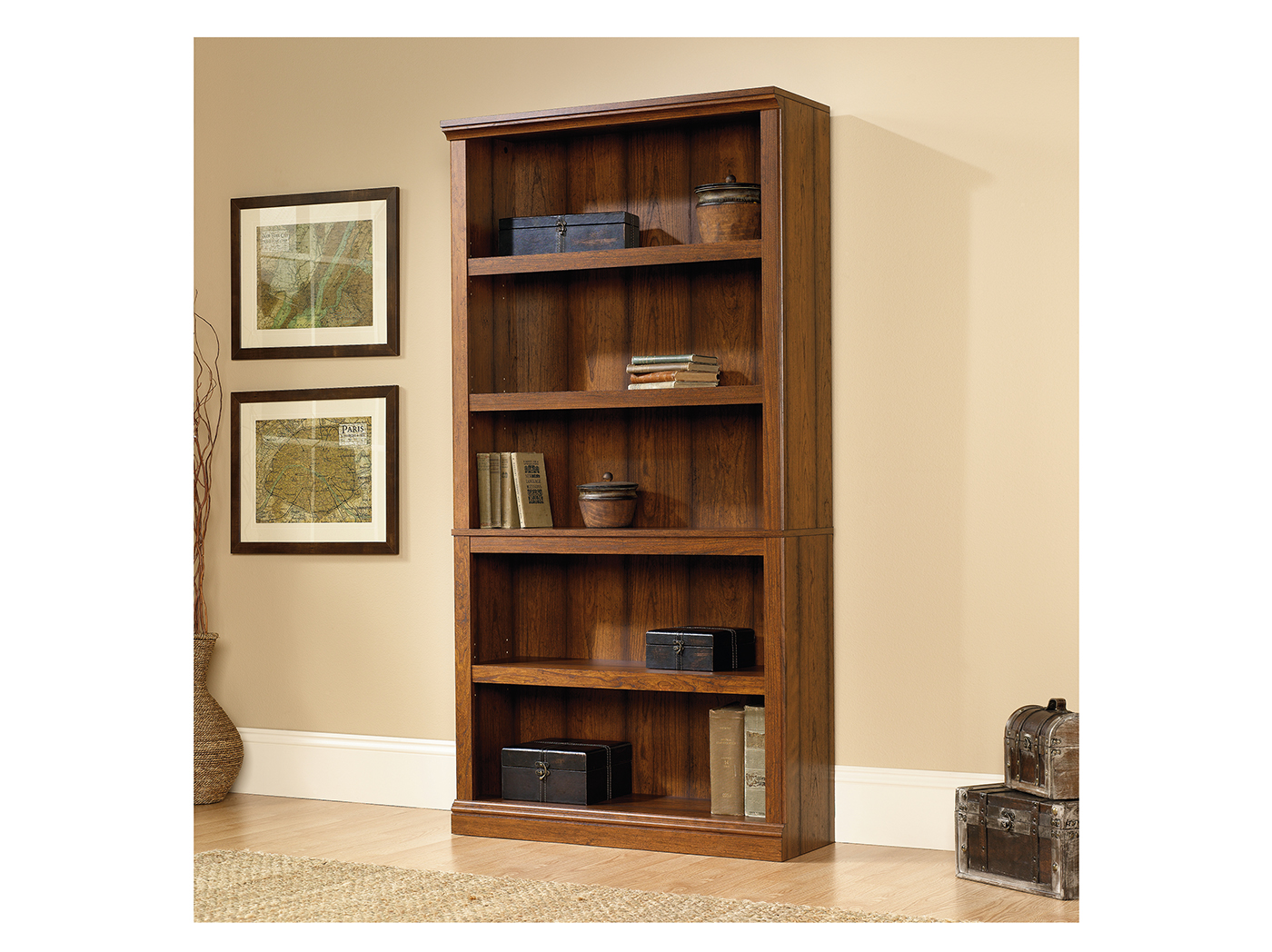 Sauder Select Washington Cherry 5 Shelf Bookcase