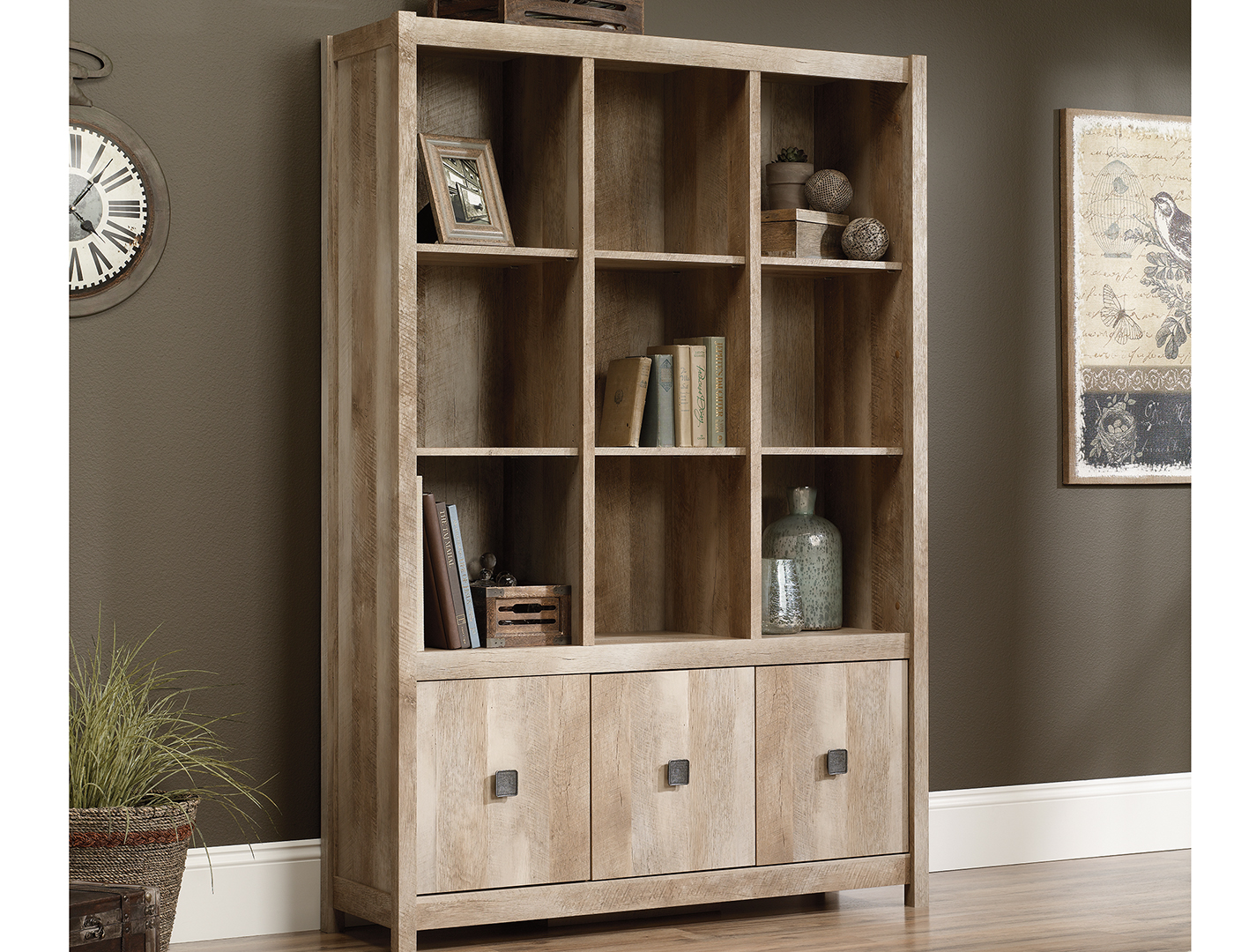 bookcases steinhafels shelf sauder office salt select lane oak barrister bookcase
