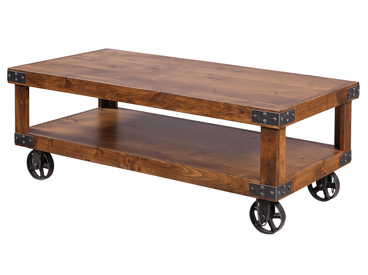 Industrial Fruitwood Cocktail Table