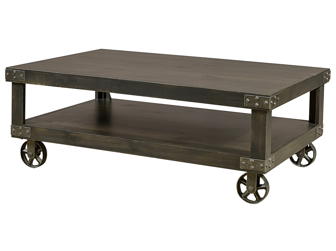 Industrial Ghost Black Cocktail Table