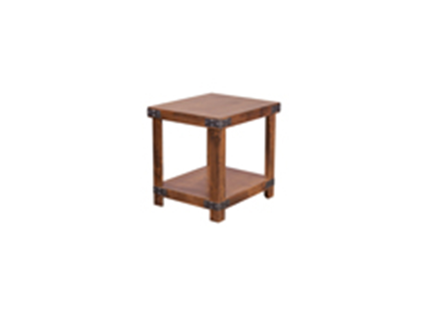 Industrial Fruitwood End Table