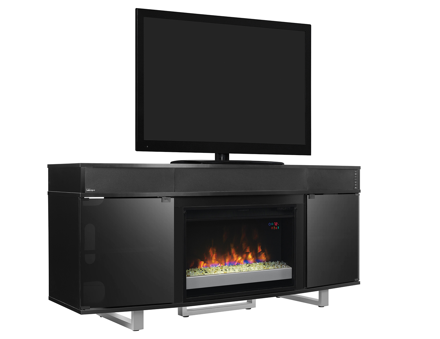 "Enterprise 64"" Glass Fireplace"