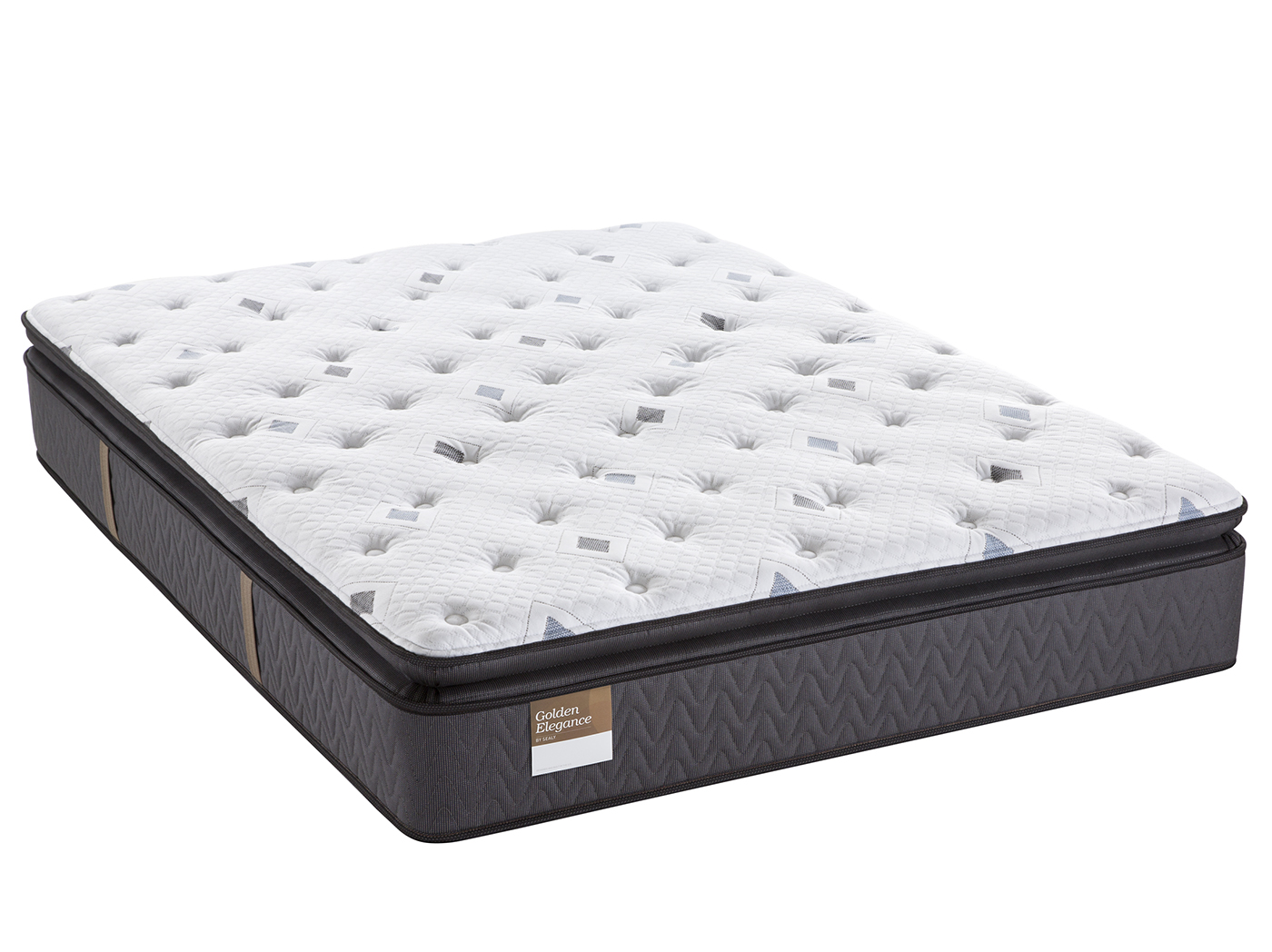 Sealy Gilded Breath Queen Pillowtop Plush Mattress Pair