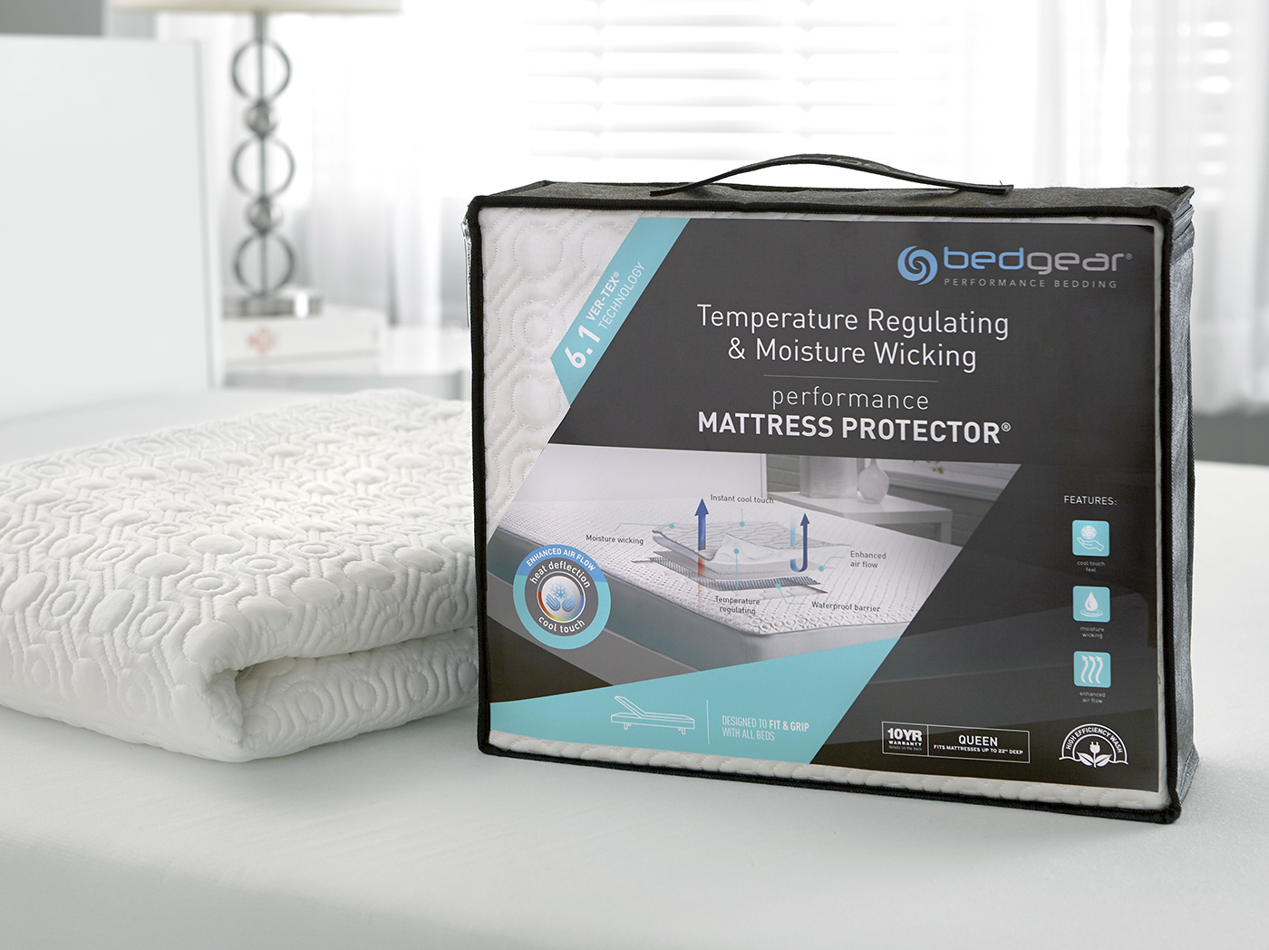 6.1 VerTex Cooling California King Mattress Protector