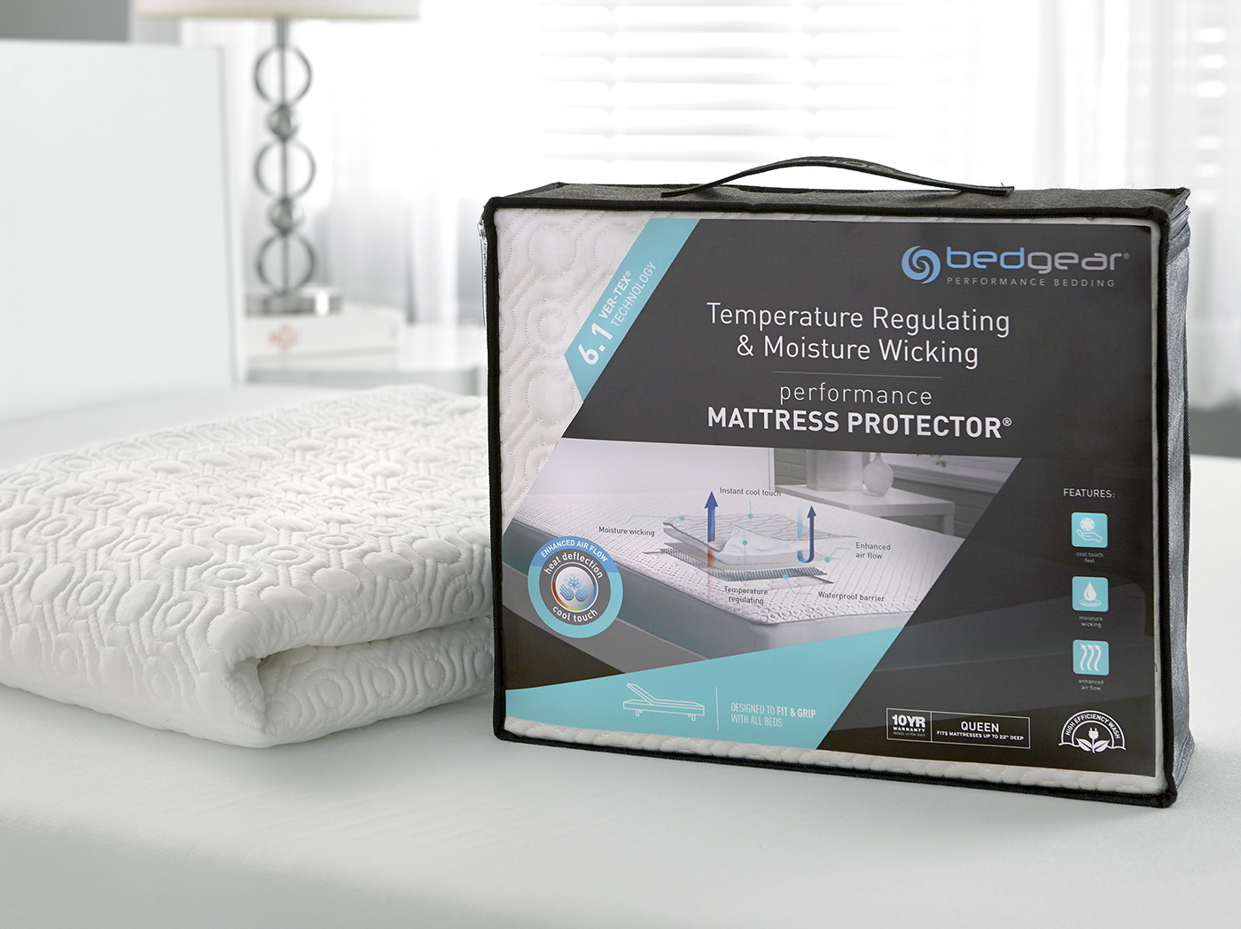 6.1 VerTex Cooling Split Cal. King Mattress Protector
