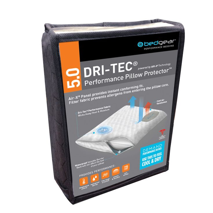 Bedgear Dri-Tec 5.0 Performance Queen Pillow Protector