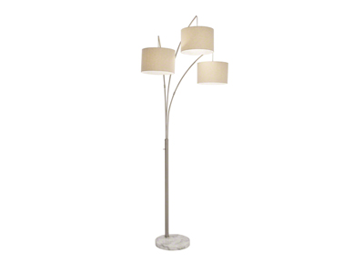 "Three Light Floor Arc Lamp 84""H"