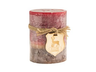 Red Amber Spice Candle 3X4""