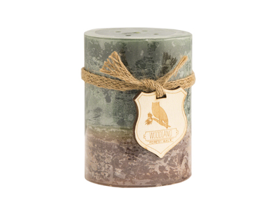 Green Forest Walk Candle 	3X4""