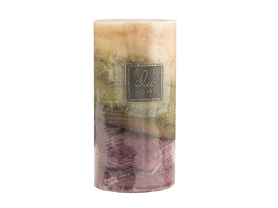 Large Fresh Blossom Candle 3X6""