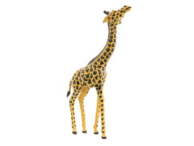 Leather Giraffe 18""