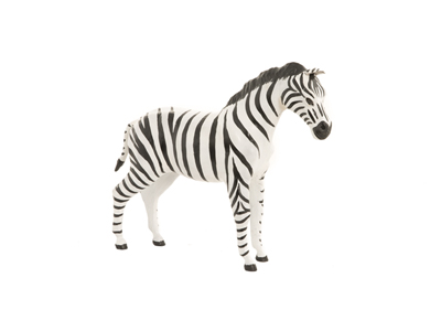 Leather Zebra 12""