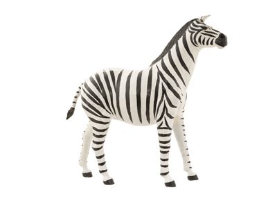 Leather Zebra Statue 24""