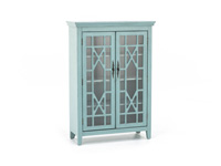 Bayberry Teal Display Cabinet