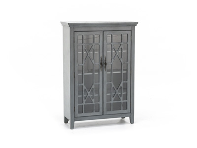 Bayberry Grey Display Cabinet
