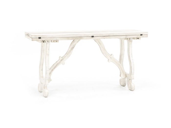 Orchard White Fold Out Console Table Steinhafels