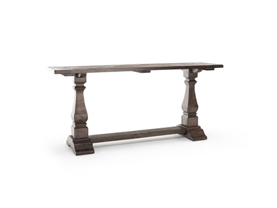 Rustic Pedestal Console Table