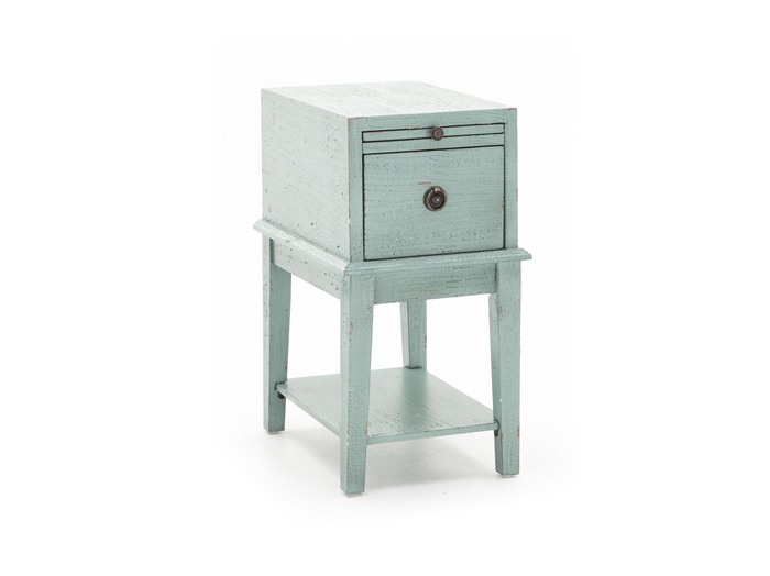 Blue Drawer Accent Table