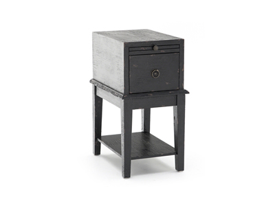 Black Tray End Table