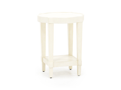 Byrnes White End Table