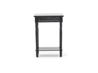 Black Cut Out Side Table