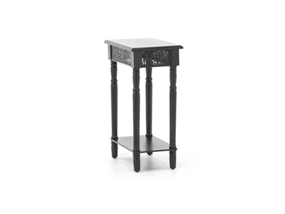 Black Cut Out Chairside Table