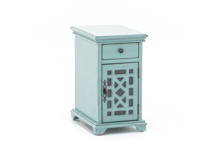 Bayberry Teal Chairside Table
