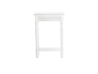 White Cut Out Side Table