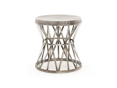 Drum Metal End Table