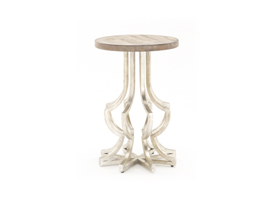 Gold Metal Chairside Table