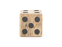 Wood Dice Stool