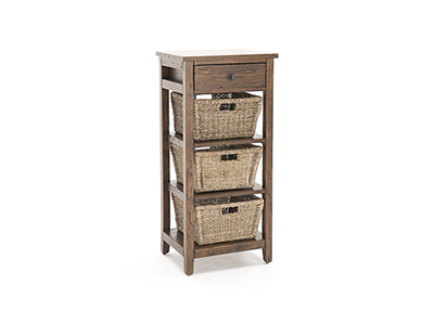 Tuscan Retreat Oxford 3 Basket Stand