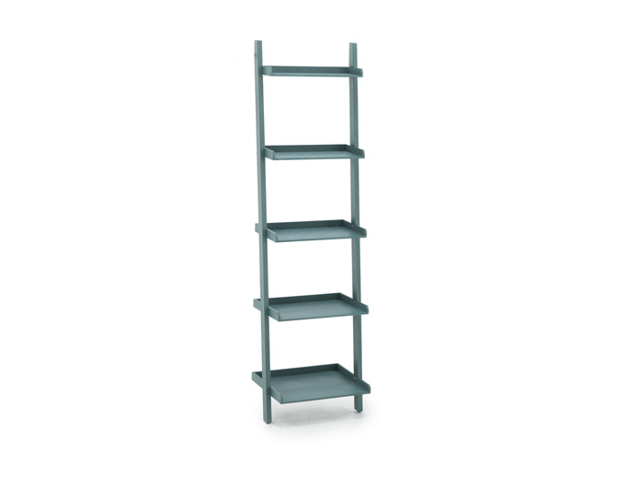 Turquoise Leaning Bookcase Steinhafels