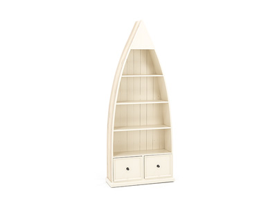 Tuscan Retreat Gray & White Boat Bookcase